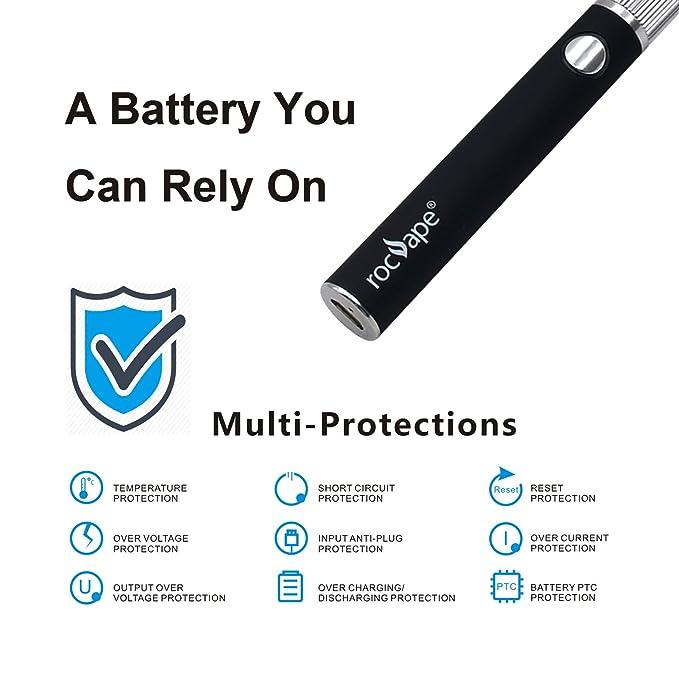 CBD Cigarrillo electrónico Rocvape Encore Sub Ohm E Shisha & Hookah Vape Pen para CBD Oil & E Cigarette Liquid Vaporizador Starter Kit 650mAh - Sin nicotina ...