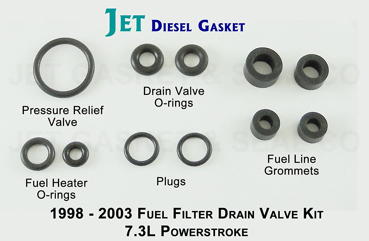 Amazon.com: Fuel Filter Drain Viton Valve Seal Kit - 1998 - 2003 For 7.3L  Like AP0007: Automotive