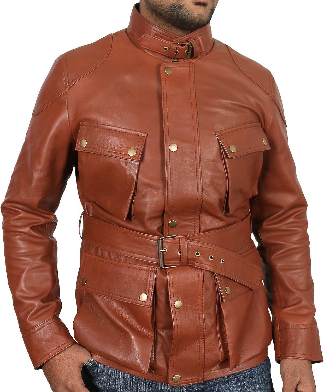 Laverapelle Mens Genuine Lambskin Leather Jacket 1801007