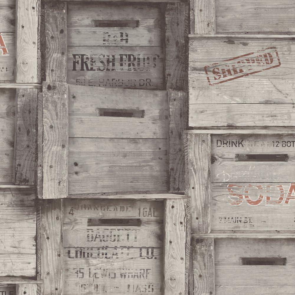 BHF fd22350/regenerado madera cajas papel pintado/ /madera oscura