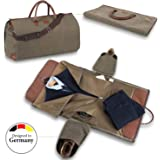 Snugs Weekender Canvas travel bag leather with integrated travel bag travel bag; wrinkle-free suit, costume, dress