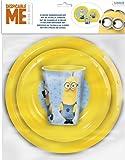 Minion Plastic Value Set, 260ml, 3-Pieces Yellow/Blue
