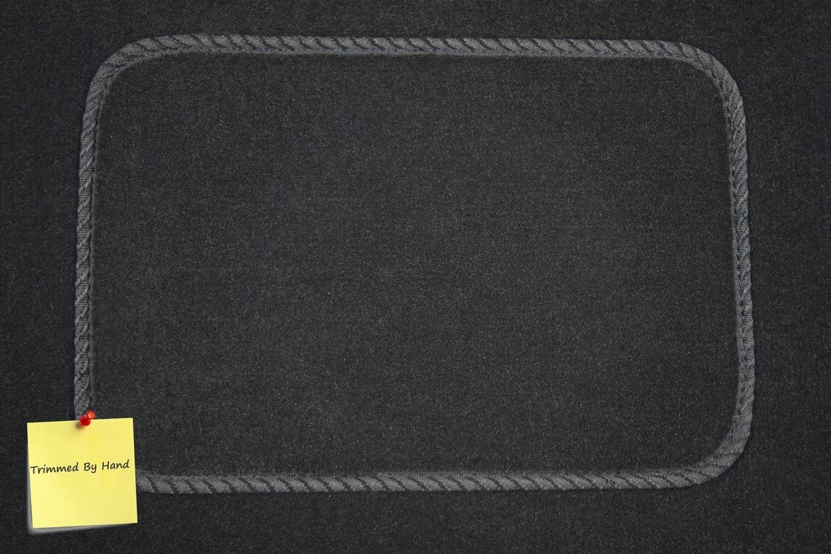 Black with Black Trim 2004-2012 5 mm Rubber Connected Essentials CEM550 Car Mat Set for Elise