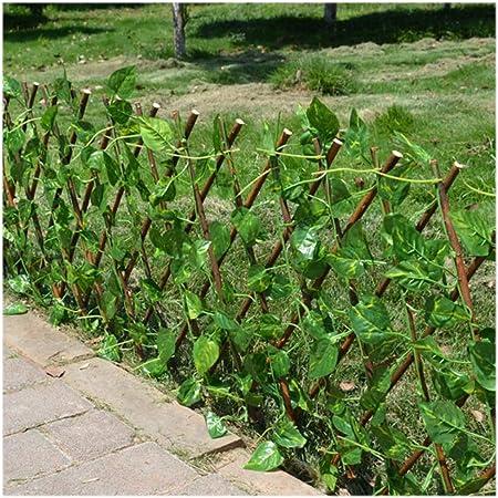 YOGANHJAT Celosia Madera Extensible Celosía de Madera Enrejado Jardín Madera Natural Enrejado Extensible de bambú Valla jardín Decoración de balcón marrón,100 * 37cm/39.3 * 14.5in: Amazon.es: Hogar
