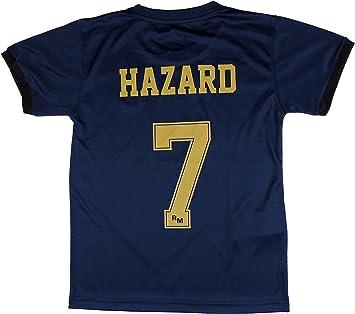 Real Madrid Camiseta Segunda Equipación Infantil Hazard Producto Oficial Licenciado Temporada 2019-2020 Color Azul Marino: Amazon.es: Deportes y aire libre