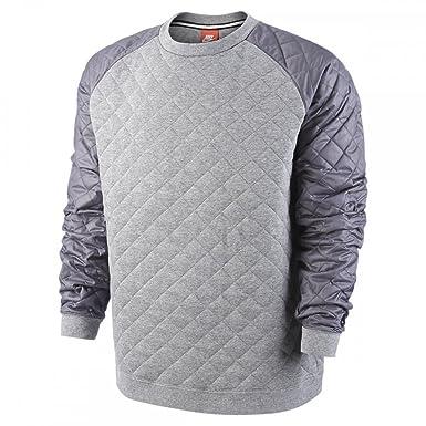 Mens Nike Winterized Crew Carbon Heather/Dark Grey/Black Sweatshirt