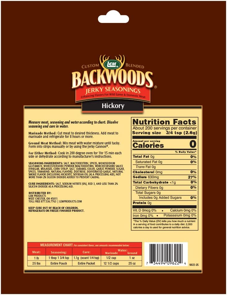 B009SJAX1U LEM Backwoods Hickory Seasoning with Cure Packet 71DC9ufB-lL