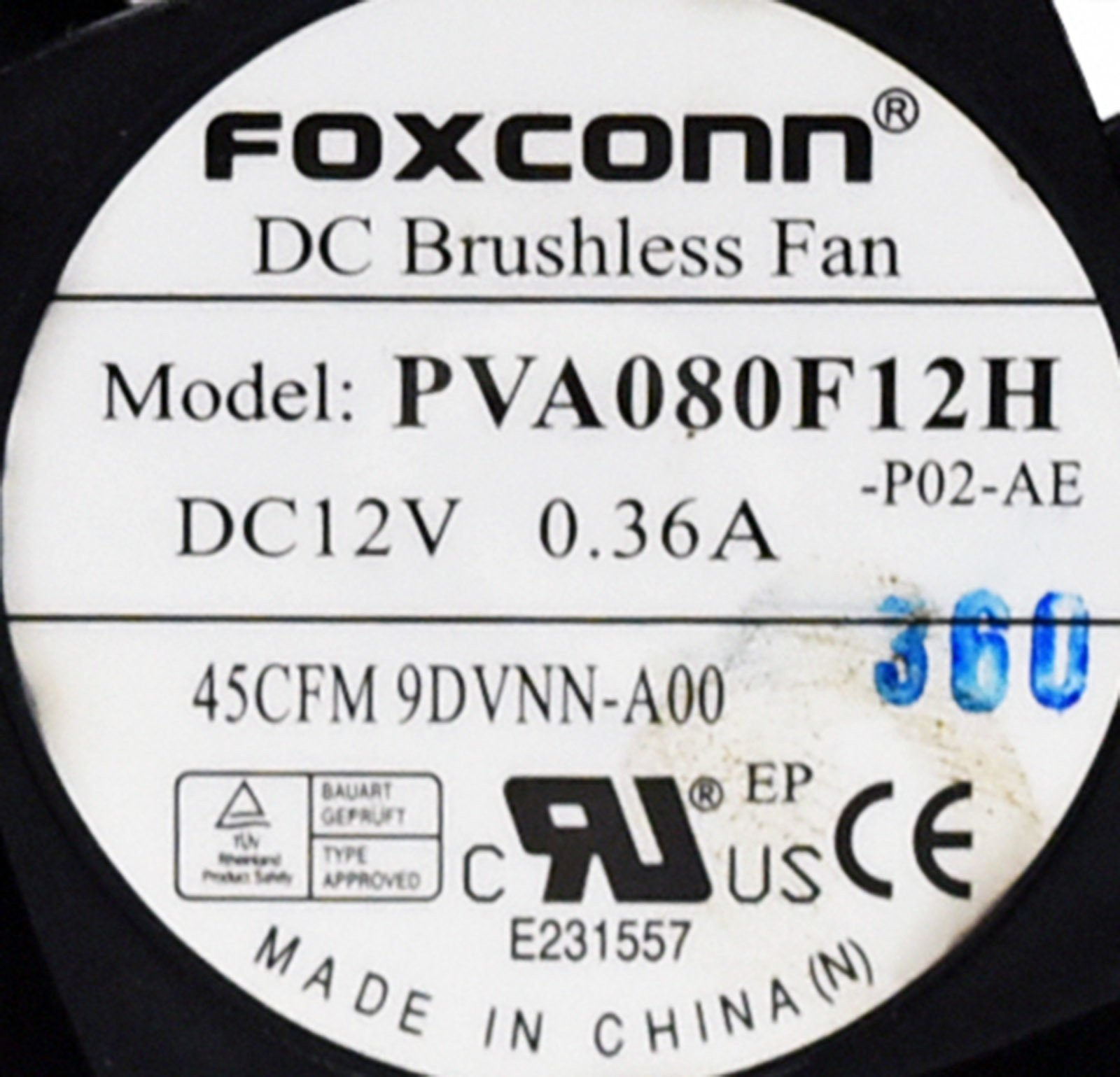 9DVNN Genuine OEM Rear Small Form Factor PC Computer Fan For Dell Optiplex 390 790 990 3010 7010 9010 4-Wire 5-Pin Power Connector Foxconn AVC Sunon Rev:A00 by Aquamoon Trading (Image #4)