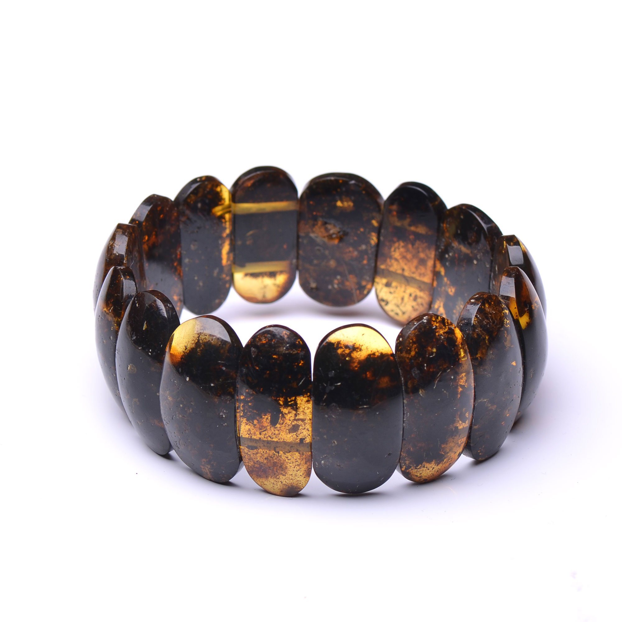 Exclusive Vintage Amber Bracelet for Woman - Unique Amber Pieces - Certified 100% Baltic Amber Bracelet