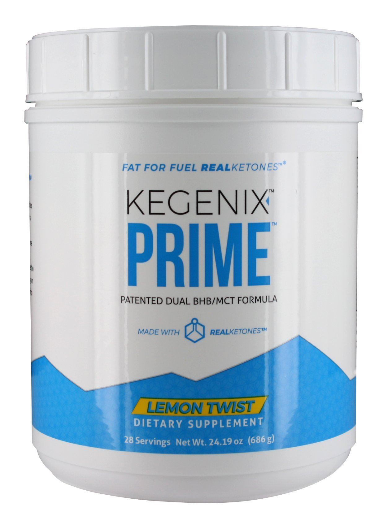 28 Day Kegenix PRIME - Ketone Weight Loss Supplement   Patented Keto Drink with BHB & MCT - Energetic Weight Loss NEW & IMPROVED FLAVOR LEMON TWIST   Now 56 SERVINGS
