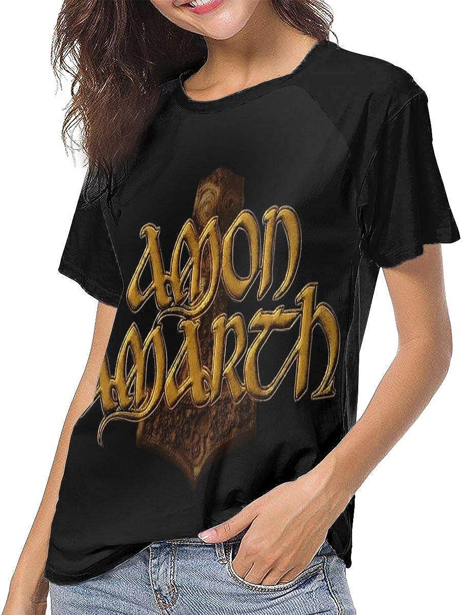 Yestrong Amon Amarth Cool Womens Casual Baseball Short Sleeve T Shirts Crew Neck Tee