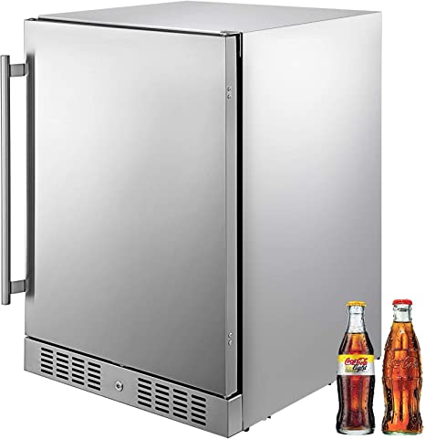 VBENLEM 5.5 pies cúbicos. Refrigerador de bebidas de acero ...