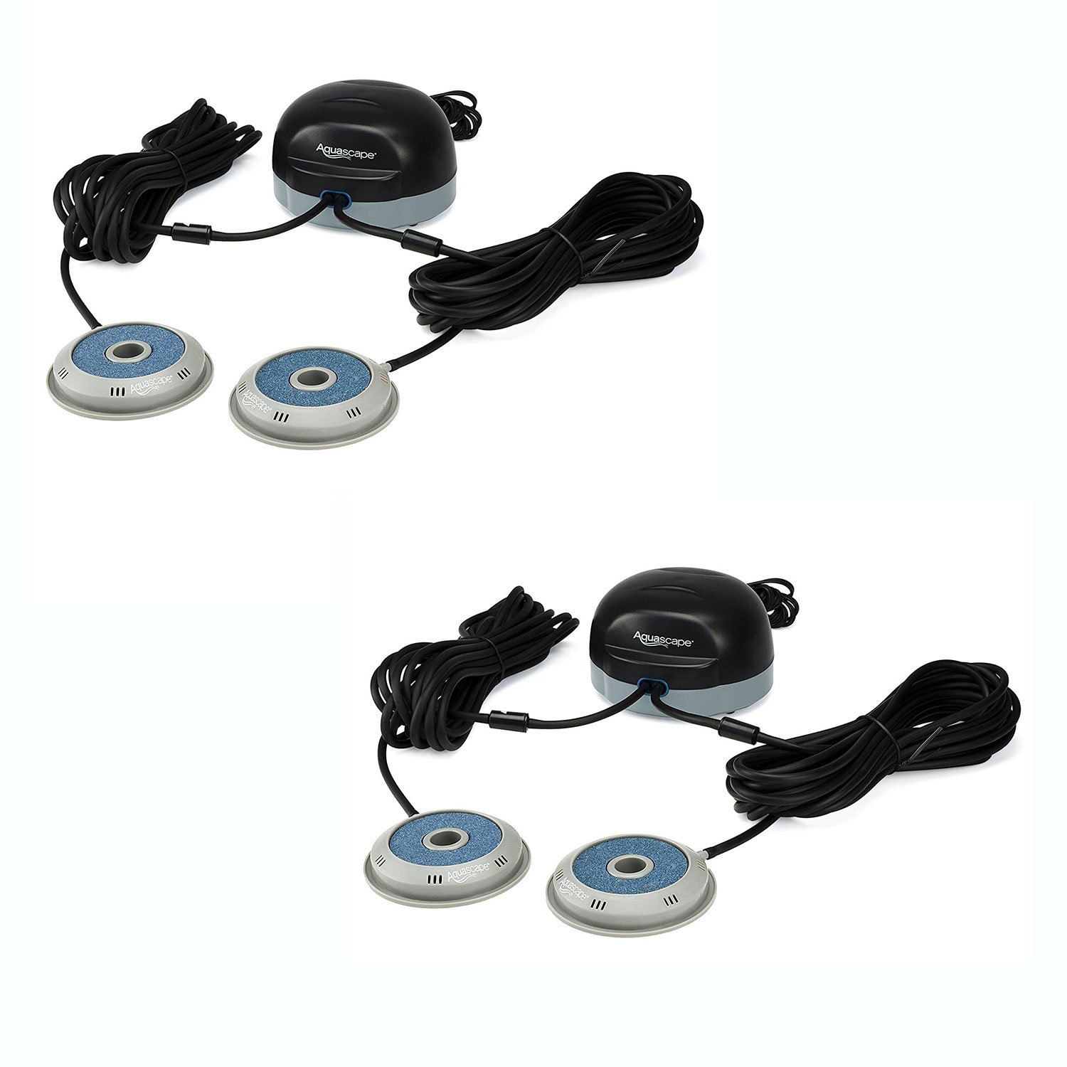 Aquascape 75000 Double Pond Water Aerator Air Pump Outlet System Kit (2 Pack)