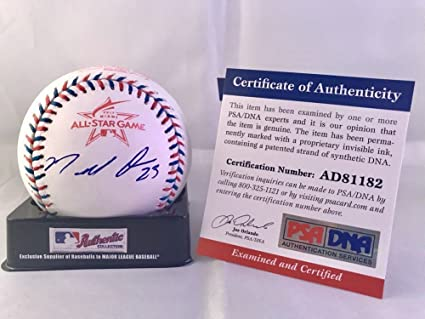 cfc2f0a48 Image Unavailable. Image not available for. Color  Marcell Ozuna  Autographed Signed 2017 All Star Baseball St Louis Cardinals ...