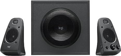 Logitech Z625 Sistema de Altavoces 2.1 Subwoofer, THX, 400W de Pico, Graves Profundos, Entrada Óptica 3.5 mm/RCA, Enchufe EU, PC/PS4/Xbox/Reproductor/DVD Player/TV/Smartphone/Tablet, Negro