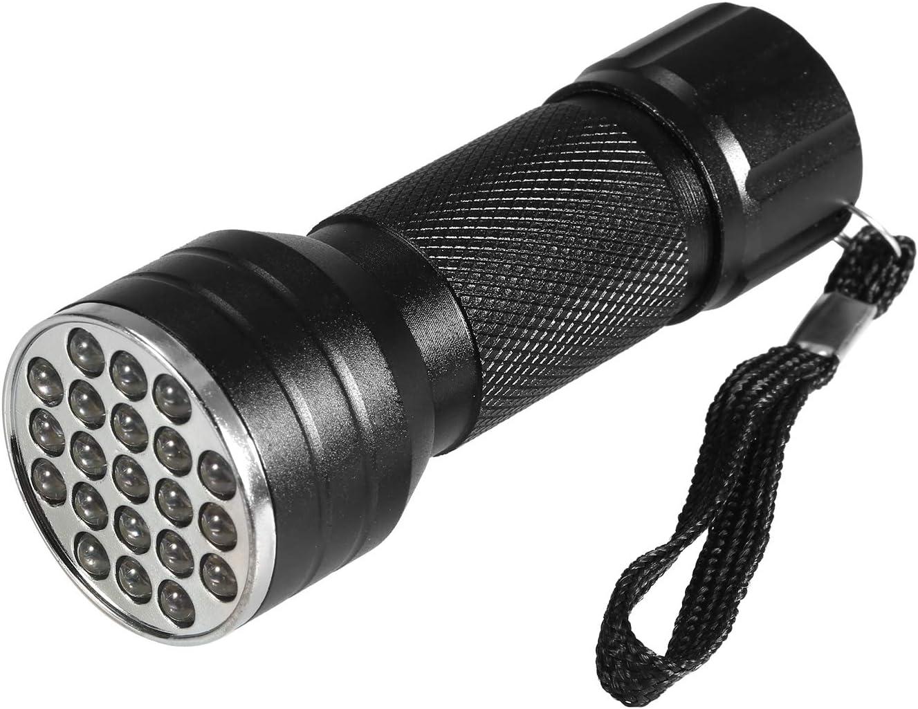 KKmoon Auto Air Conditioner Leak Detector UV Flashlight Refrigerant Leak Detection Tool Kit Car AC Leak Test Flashlight 21 LED UV Dye Fluorescent Glasses