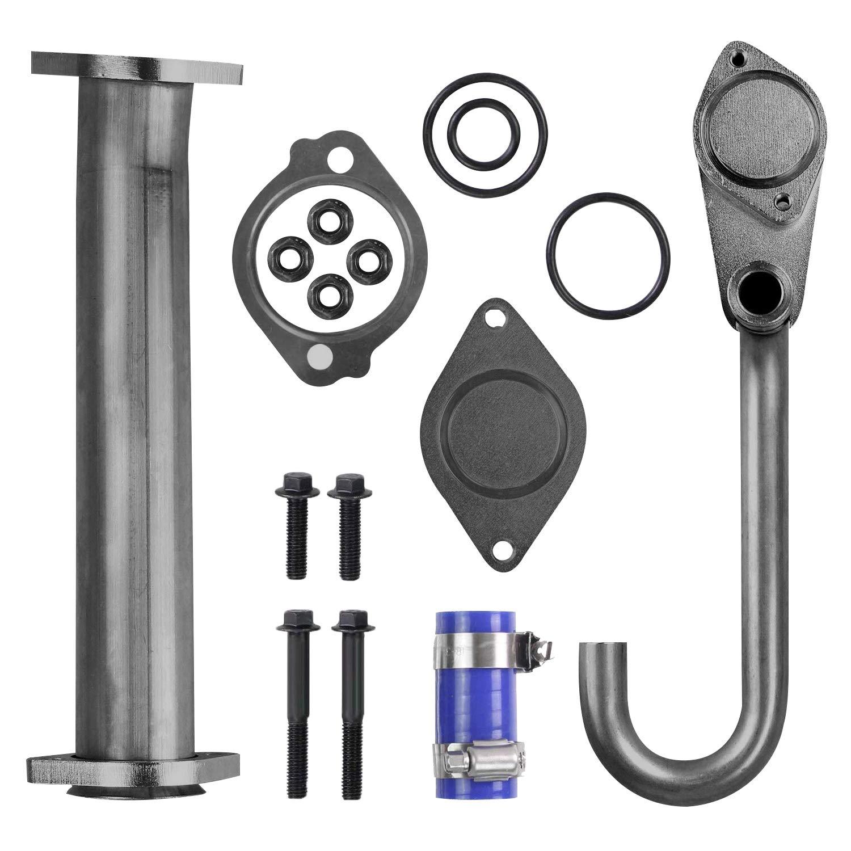 6.0 EGR Valve Pipe Kit for Ford 6.0L Diesel Powerstroke F250 F350 F450 F550 2003-2007 Excursion 2003-2005 E350 E450 2004-2010 Replaces 904-228 904228 3C3Z6A642CA 3C3Z-6A642-CA 904-218 904218