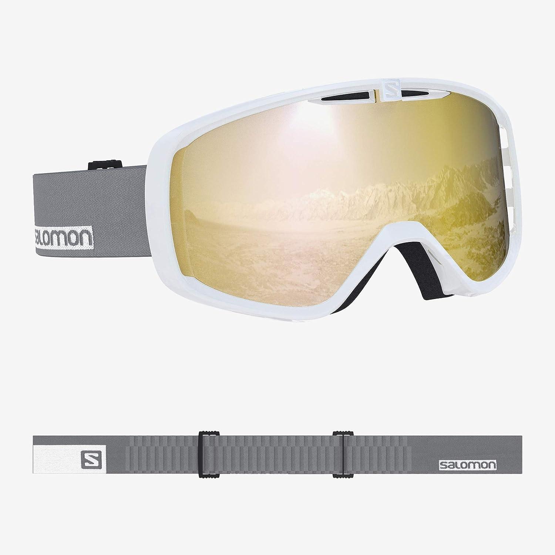 サロモン(SALOMON) スキー スノーボード ゴーグル 2019-20年モデル ユニセックス AKSIUM 白い-グレー/Bronze L40516100