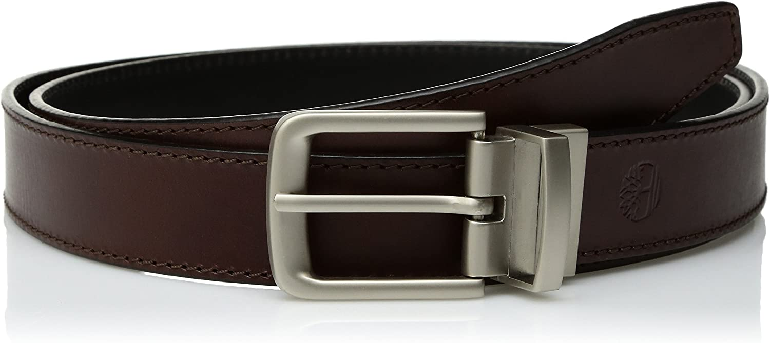 Timberland mens Classic Leather Reversible Belt Belt