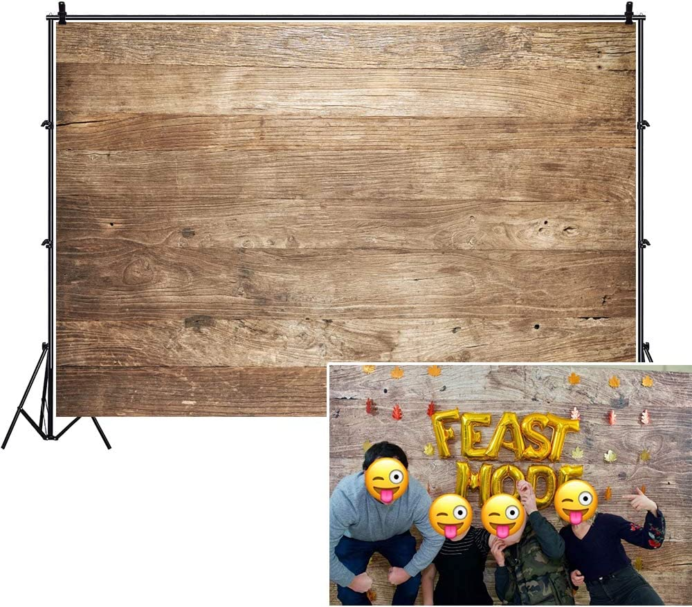 Haoyiyi 10x8ft Back to School Day Backdrop Plasticine Vintage Rustic Natural Wood Wooden Floor Board Wall Background Photography Photo Girls Child Student Cake Table Party Decoration