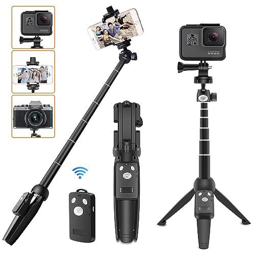 コスパ◎で大人気!たった0.37kgの超軽量で、36cm~110cmまで4段階伸縮で1.5kgのカメラまで設置Ok。スマホとカメラ兼用タイプです。脚先端滑り止めゴム素材を使用しているので、滑りやすい環境でも安心して使えます。
