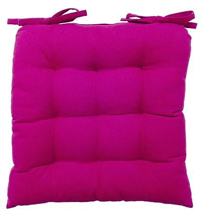 Soft Chair Cushion / Pad   14u0026quot; X 14u0026quot;, Hot Pink