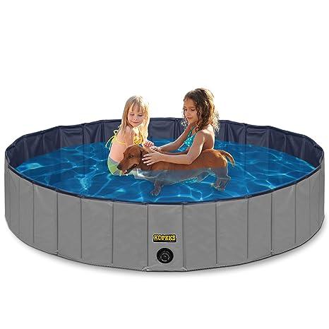 Amazon.com: Outdoor Swimming Pool Bathing Tub - Portable Foldable ...