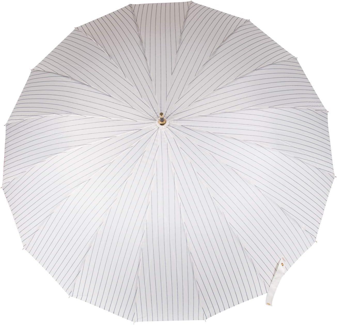 ThreeH/Parapluie en Fibre de Verre Mode cr/éatif Auto Open,16 os,Parapluies de Voyage Coupe-Vent avec poign/ée en J Classique KS22,Blanc