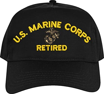59d9a30129482 MilitaryBest U.S. Marine Corps Retired Embroidered Cap at Amazon ...