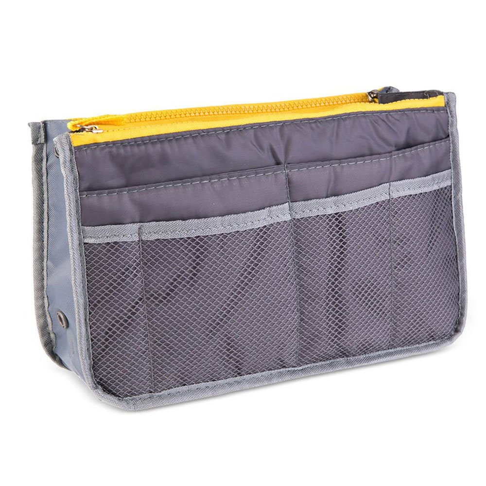 Amazon.com | Travel Organiser Bag for Makeup, Cosmetics, Toiletries, Lingerie or more. Medium size. (Grey) | Packing Organizers