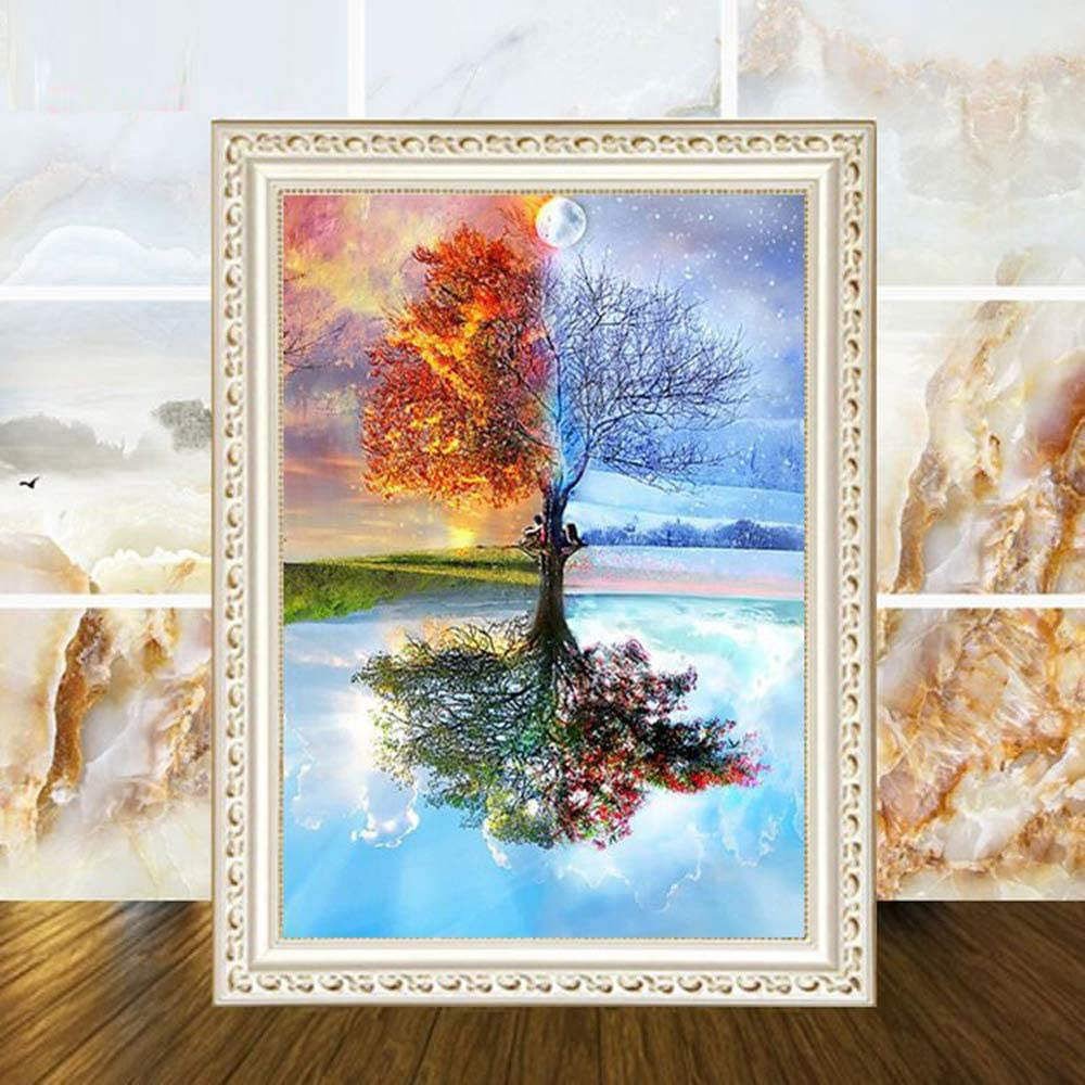 Diamond Painting Kits for Adults Wall Decor 16 /×12 Inch Office Crystal Rhinestone Diamond Embroidery Paintings Great for Home OCHILIMA 5D DIY Round Diamond Number Kits with Full Drill