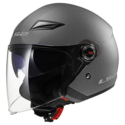 LS2 Helmets Open Face Track Helmet (Gunmetal - Large): Automotive