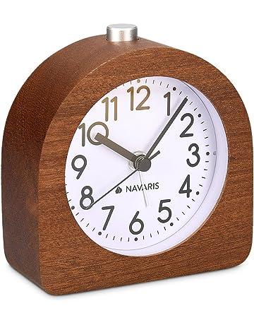 Home Decor Trustful 3 Or 4 Inch European Style Retro Double Bell Alarm Clock Quartz Movement Bedside Night Light Silence Table Clock Desktop Watch Home & Garden