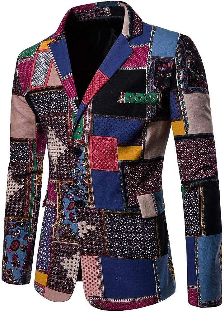 STRIR Moda Chaqueta de Traje para Hombre, Chaquetas para Hombre de Vestir Blazer Hombre Casual Chaqueta de Abrigo Tops (M, A): Amazon.es: Ropa y accesorios