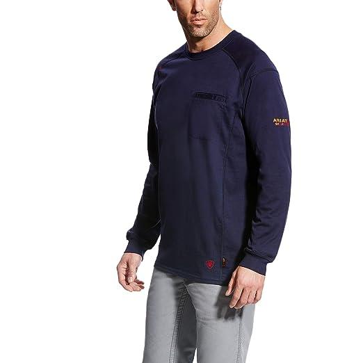 31e89cb1 Ariat Men's Big and Tall Flame Resistant Air CrewWork Utility Shirt