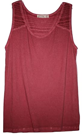 2e5b00ae03a Faded Glory Women s Plus Size Modal Blend Ribbed Tank Top with Jacquard  Inset at Back (