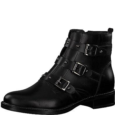 great quality special sales shop best sellers Tamaris Damen Biker Boots 25011-21,Frauen  Stiefel,Stiefelette,Halbstiefel,Bikerstiefelette,Bootie,Nieten,Blockabsatz  2.5cm