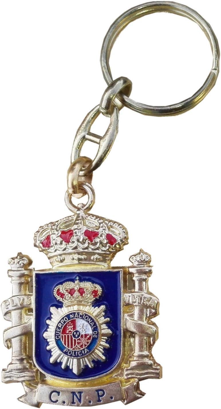 Llavero Emblema Policia Nacional y Escudo de España: Amazon.es: Equipaje