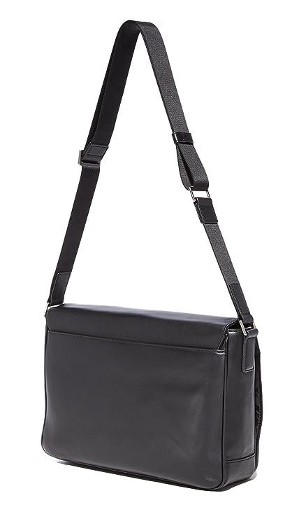 a0c8c08326bb Amazon.com | Michael Kors Men's Odin Large Messenger, Black, One Size |  Messenger Bags
