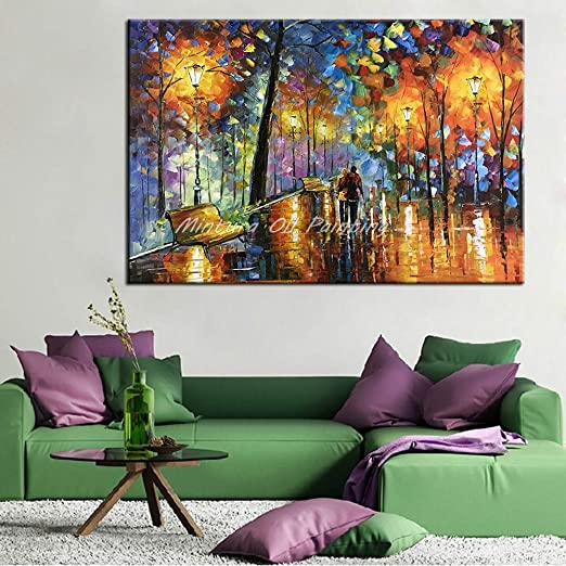 40x64inch 100x160cm Hand Painted Oil Painting,Handmade Modern Canvas On Oil Painting 3D Flowers Paintings Living Room Decor Wall Art