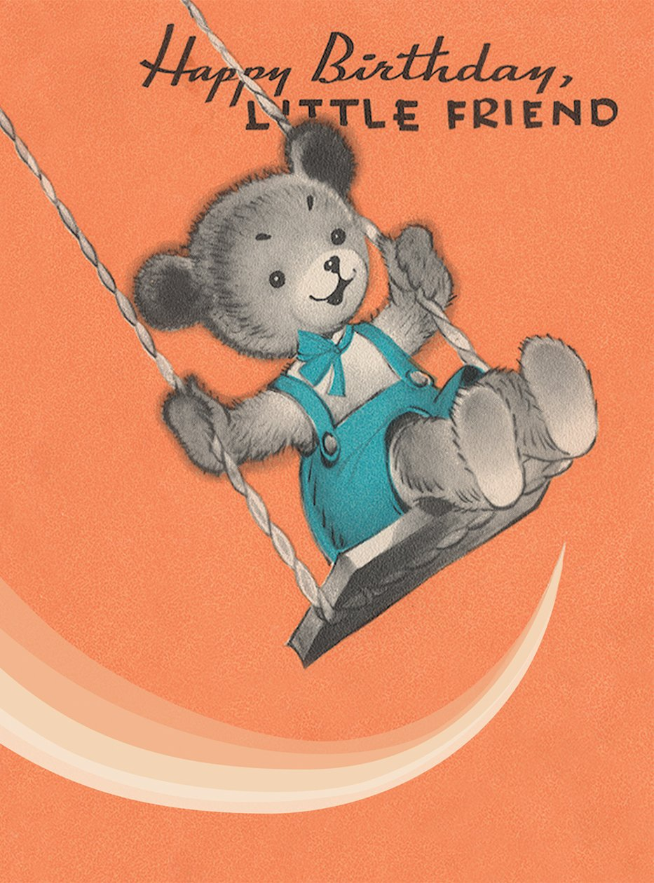 Teddy Bear on a Swing. 6 cards, individually bagged with envelopes (Greeting Card-Birthday) ebook