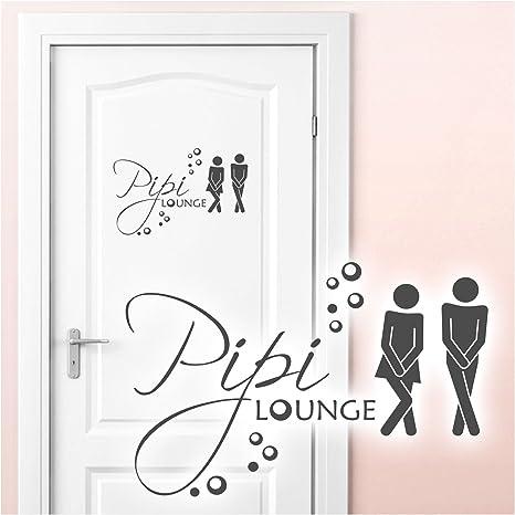 Grandora Wandtattoo Spruche Pipi Lounge Mann Frau I Dunkelgrau 27 X 18 Cm I Wc Turaufkleber Piktogramm Bad Badezimmer Wandaufkleber Wandsticker W755 Amazon De Kuche Haushalt