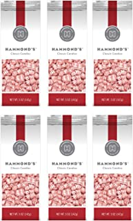 product image for Hammond's Candies - Peppermint Pillows - 6 - 5 Ounce Bags, Great for Holiday Events, Stocking Stuffers, Present Toppers and Holiday Office Party Gifts. Handcrafted in the USA