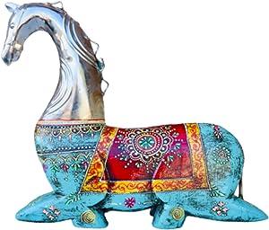 QT S Splendid Wood Horse Home Decor Statue / Sculpture - Exclusive 12