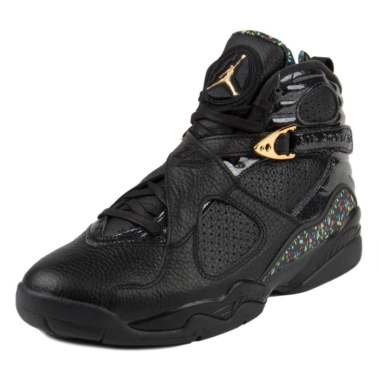 Nike Mens Air Jordan 8 Retro C&C Black/Metallic Gold Leather Size 12 by Nike