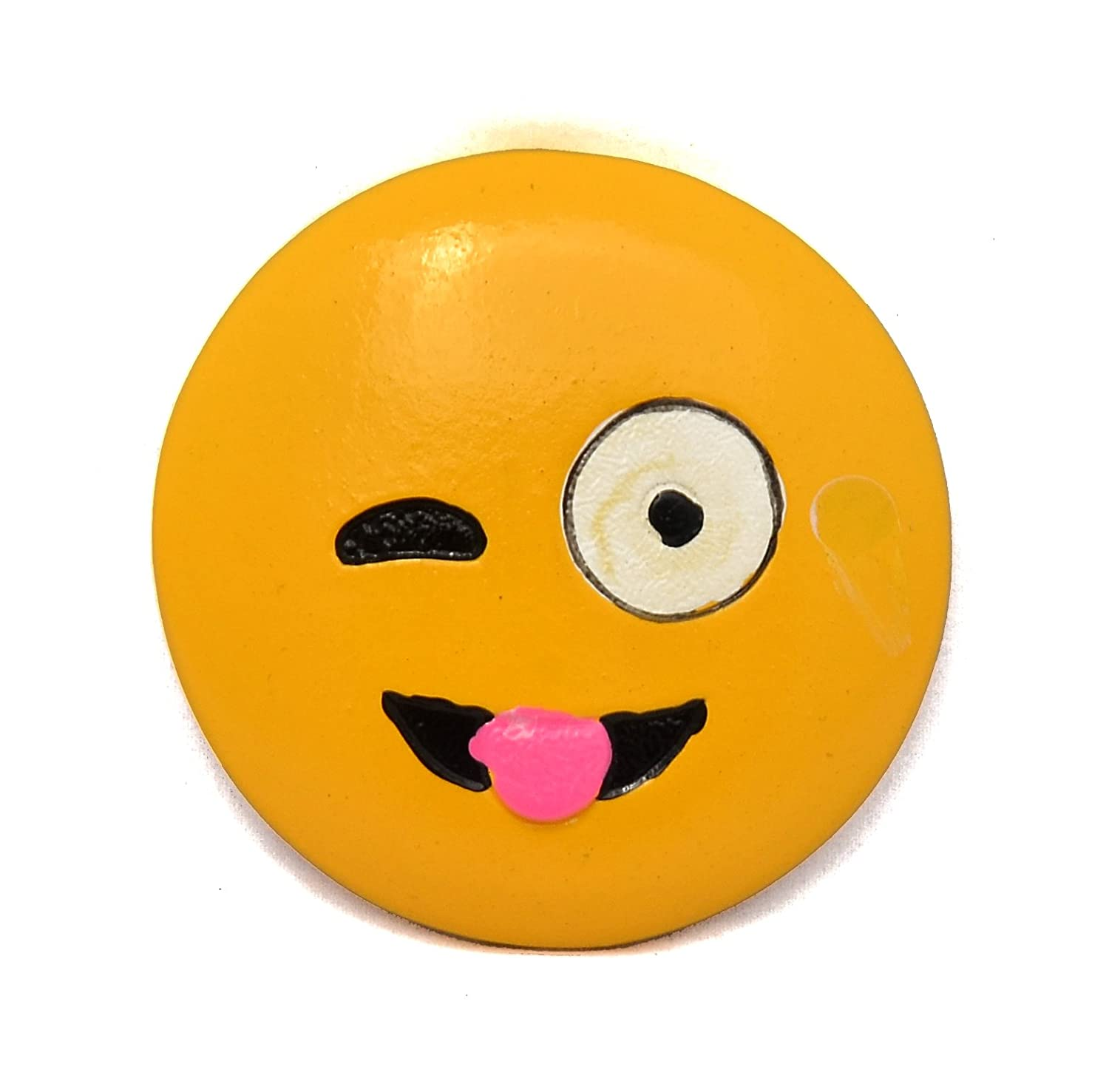 Buy Little Kitchen Wooden Round Cartoon Emoji Smiley Face