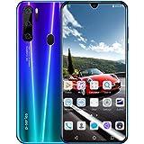 ACHICOO スマートフォン 携帯電話 P35 PRO 指紋認識 デュアルカード デュアルスタンバイ 6G+128G 人間の特徴をもつ グラデーションブルー 日本適用