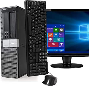 Dell Optiplex 980, Intel Core i5 3.2GHz, 4 GB RAM, 500 GB HDD, 19inch LCD, DVD, Keyboard, Mouse, WiFi Adapter, Windows 10 Home (Renewed)
