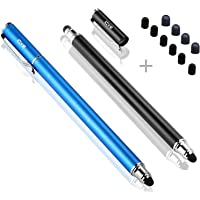 """Bargains Depot (2 Pcs)[0.18-inch Fine Tip ] Stylus Touch Screen Pens 5.5"""" L Perfect for Drawing Handwriting Gaming Compatiable with Apple iPad iPhone Samsung Tablets and all Other Touch Screens Come with 10 Extra Rubber Tips"""
