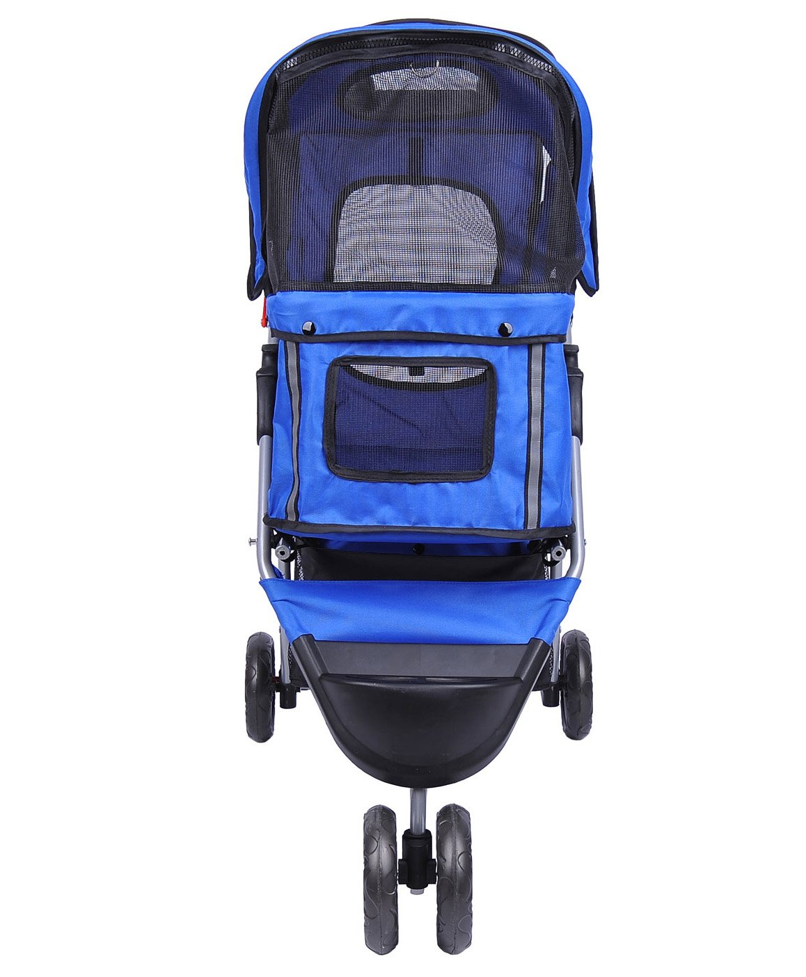 MDOG2 MK0015A 3-Wheel Front and Rear Entry Pet Stroller, Blue by MDOG2 (Image #5)